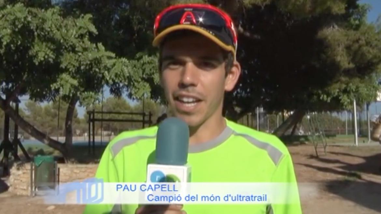 Pau Capell a la 1a cursa de muntanya del Club Tenis Romaní